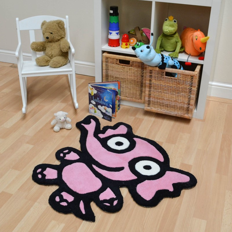Kiddy Elephant Rugs In Pink Buy Online From The Rug Seller Uk