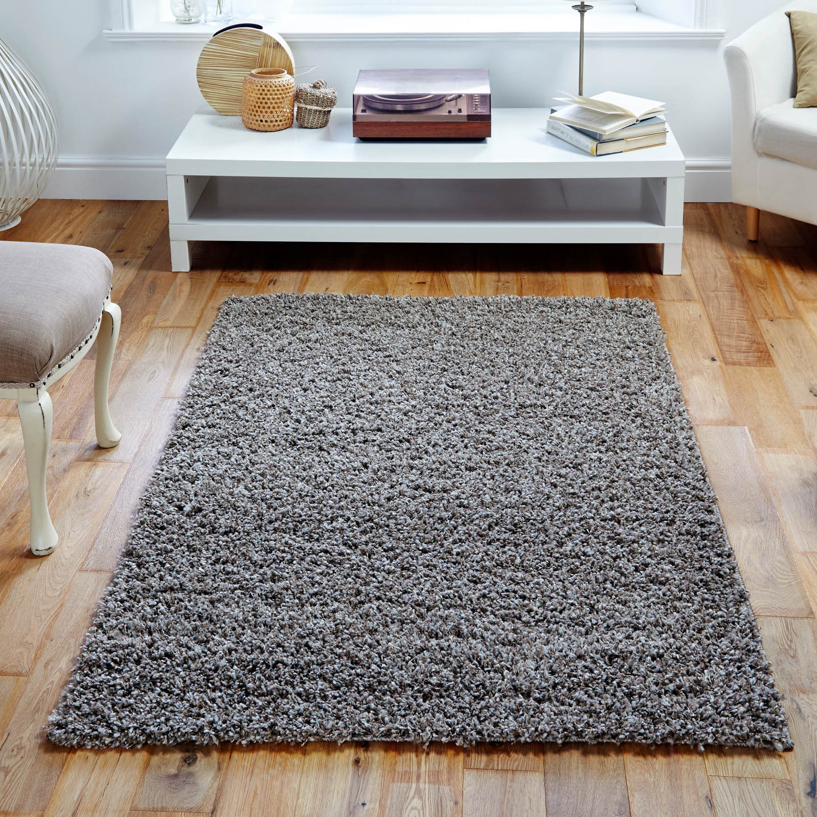 Elsa Shaggy Rugs in Beige