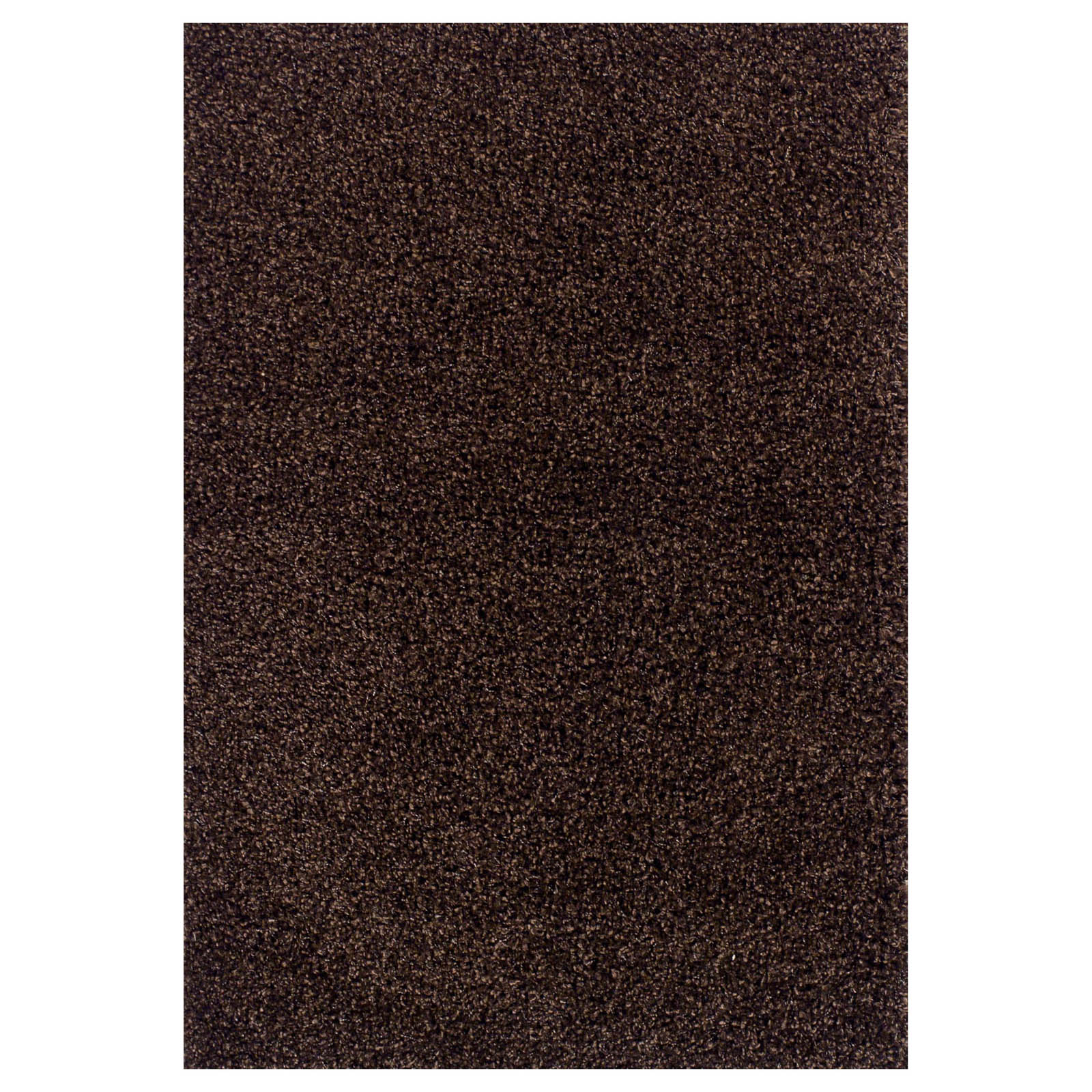 Elsa Shaggy Rugs in Chocolate Brown