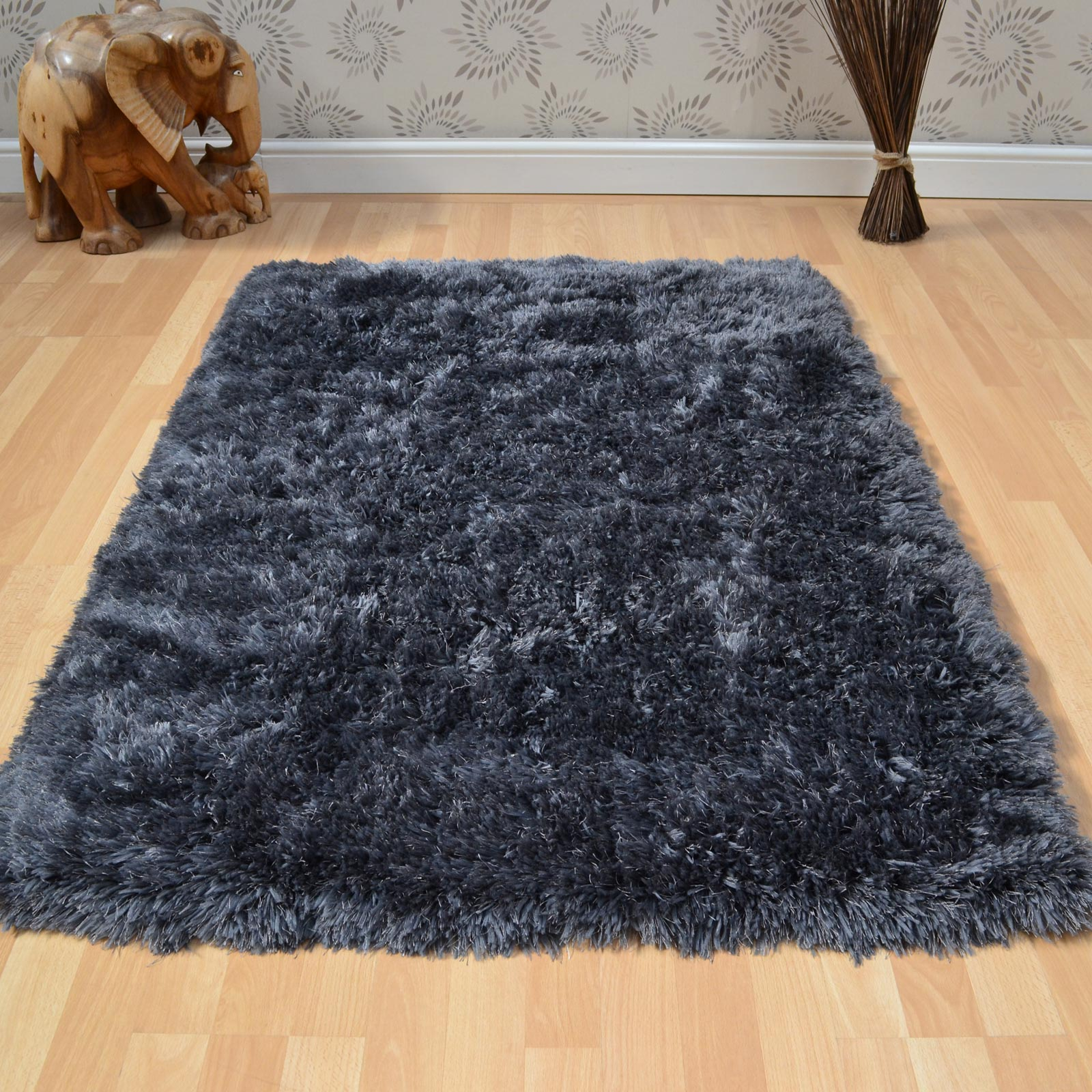 Eva Shaggy Rugs in Mist