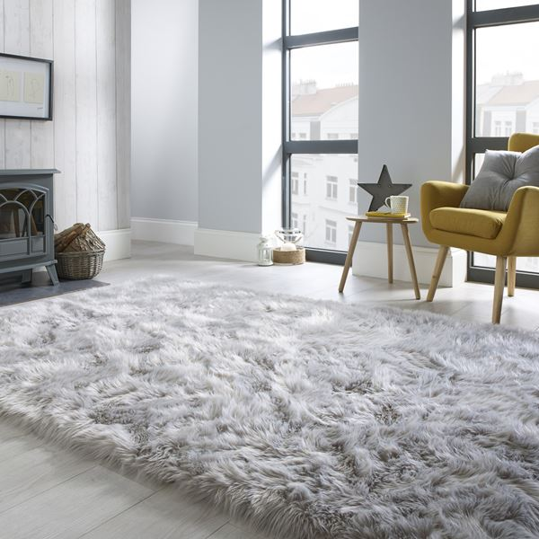 Faux Fur Sheepskin - Grey