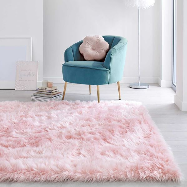 Faux Fur Sheepskin - Pink