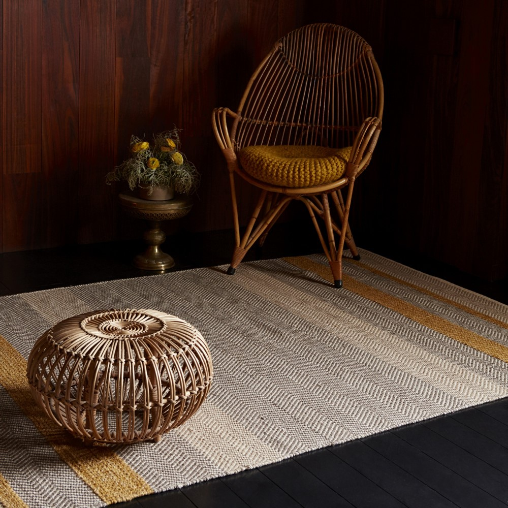 Large Washable Rugs Uk: Fields Rugs In Mustard Buy Online From The Rug Seller Uk