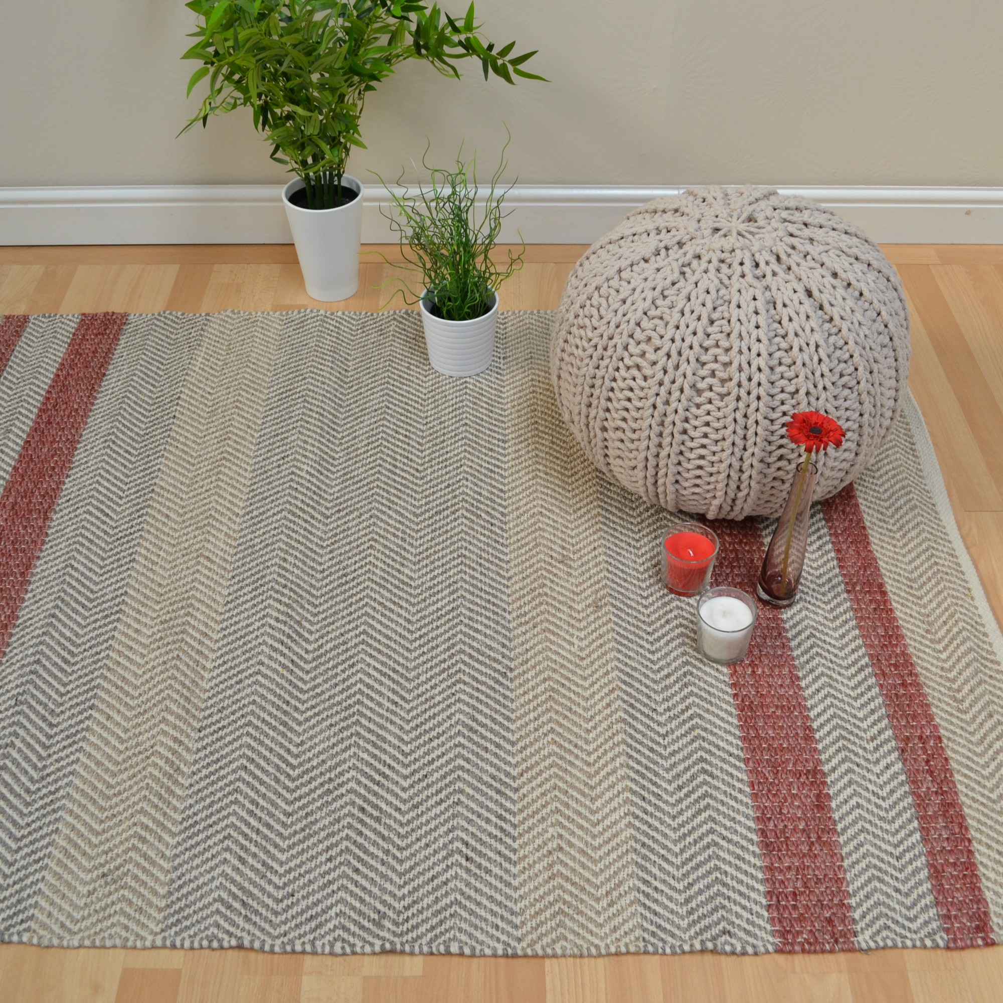 Fields Rugs in Red