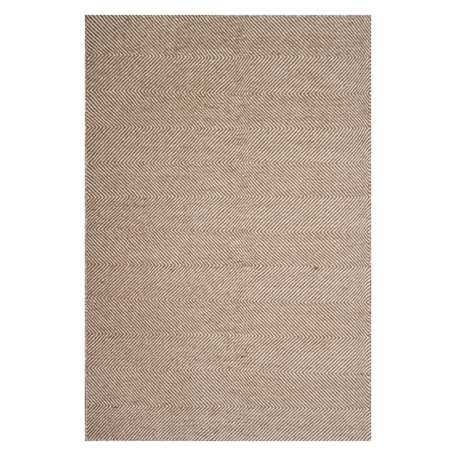 Flatweave Chevron Rugs in Brown and Ivory