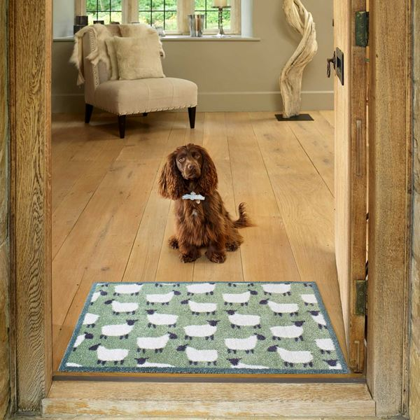 Flock Doormat - Green