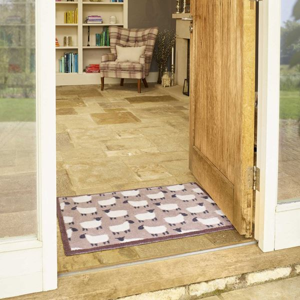 Flock Doormat - Natural