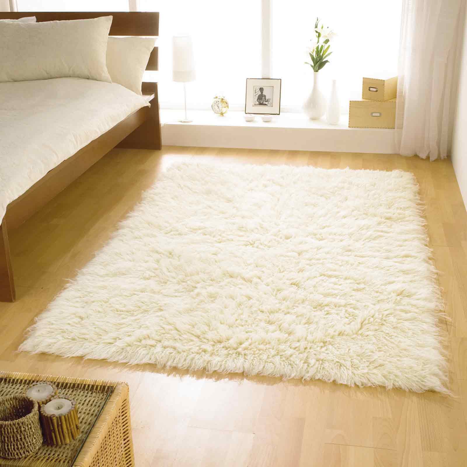 Flokati Rugs in Ivory
