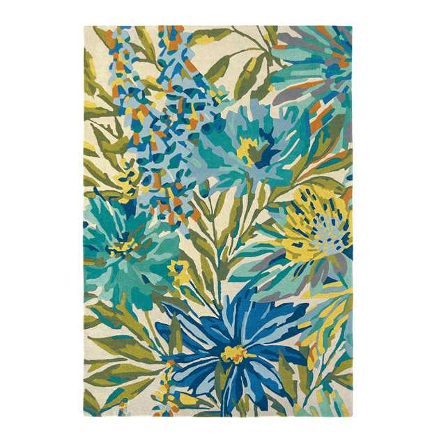 Floreale Rugs 44908 in Marine by Harlequin
