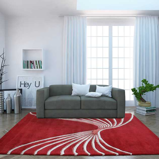 Indian Summer Flow Rugs in Red