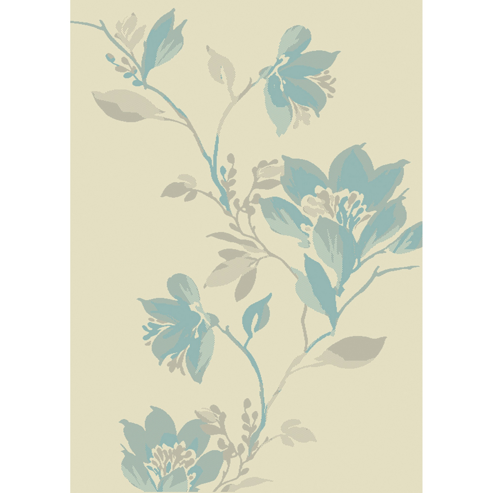 Focus Floral Rugs FC11 in Blue