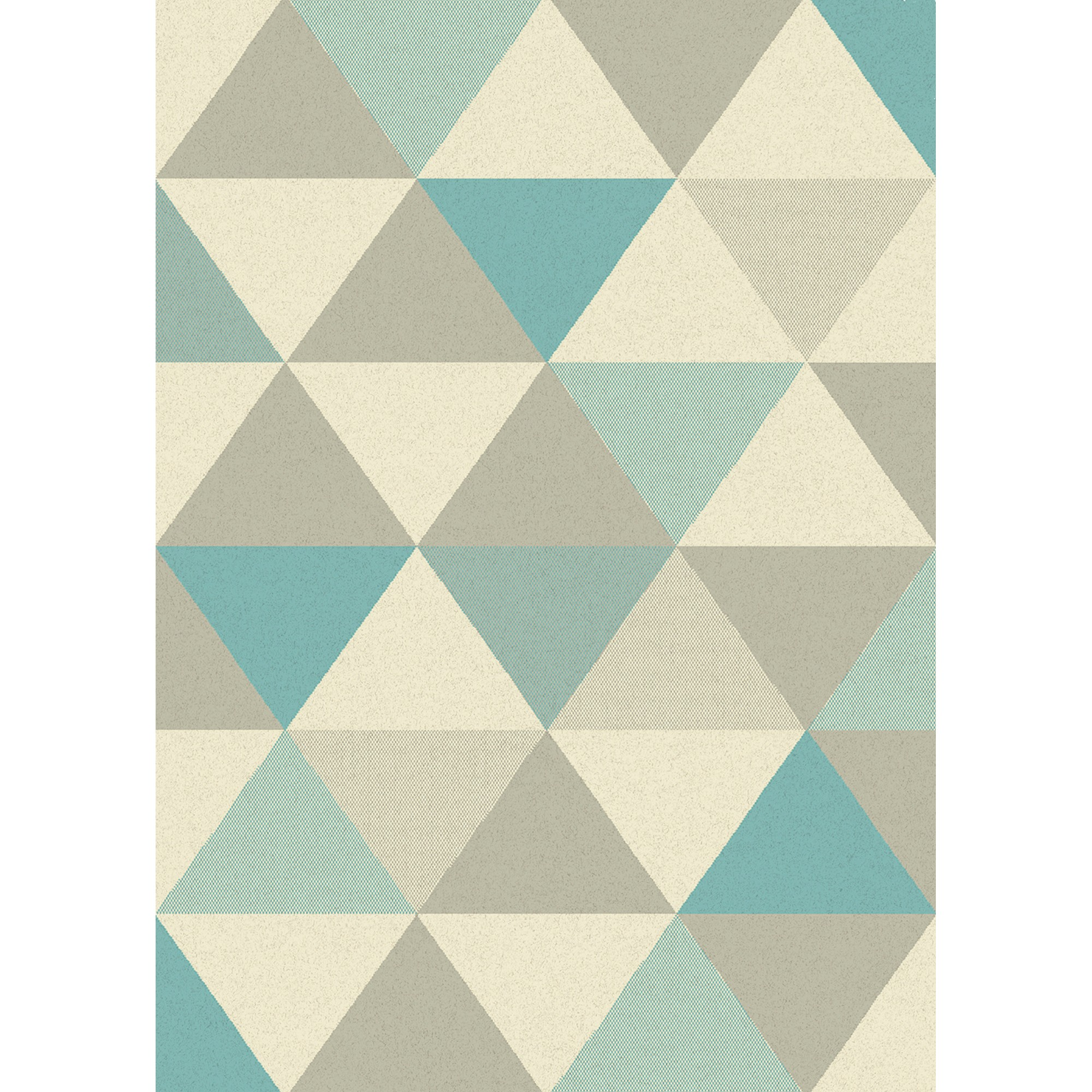 Focus Triangles Rugs FC02 in Blue