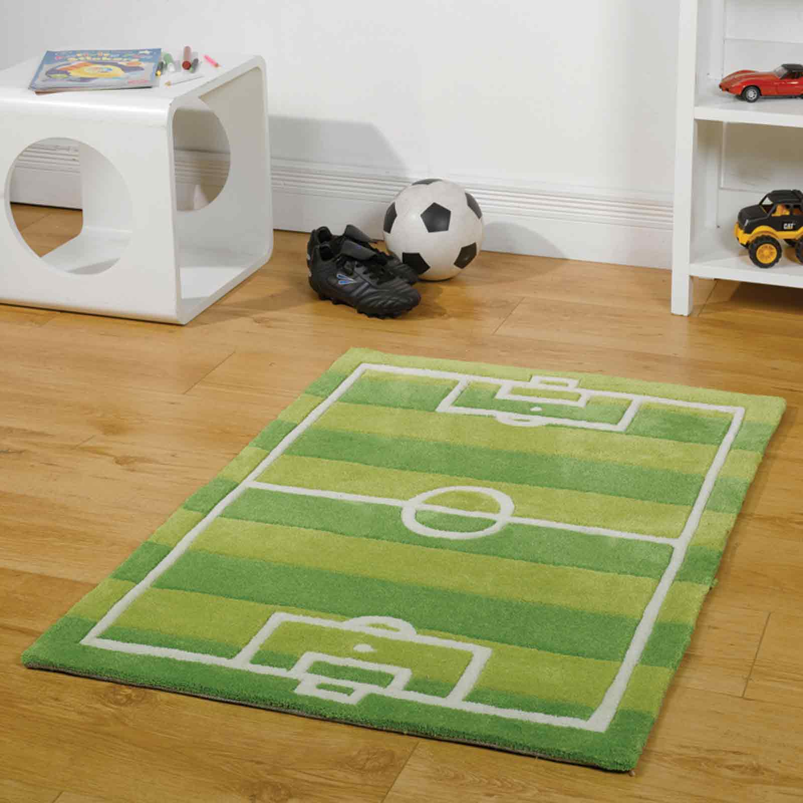 Play Football Pitch Rugs in Green