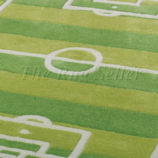 Play Football Pitch Rugs In Green Buy Online From The Rug