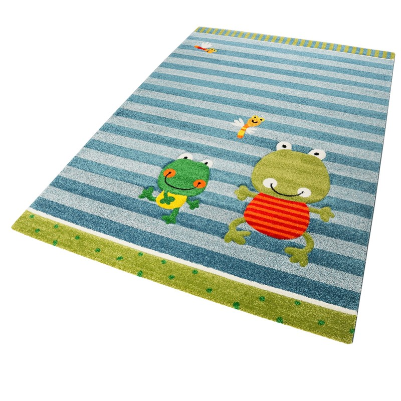 Fortis Frog Rugs In Blue Buy Online From The Rug Seller Uk