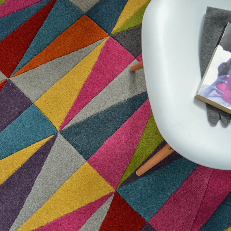 Purple Triangle Rug: Funk Triangles Multi Coloured Rugs Buy Online From The Rug