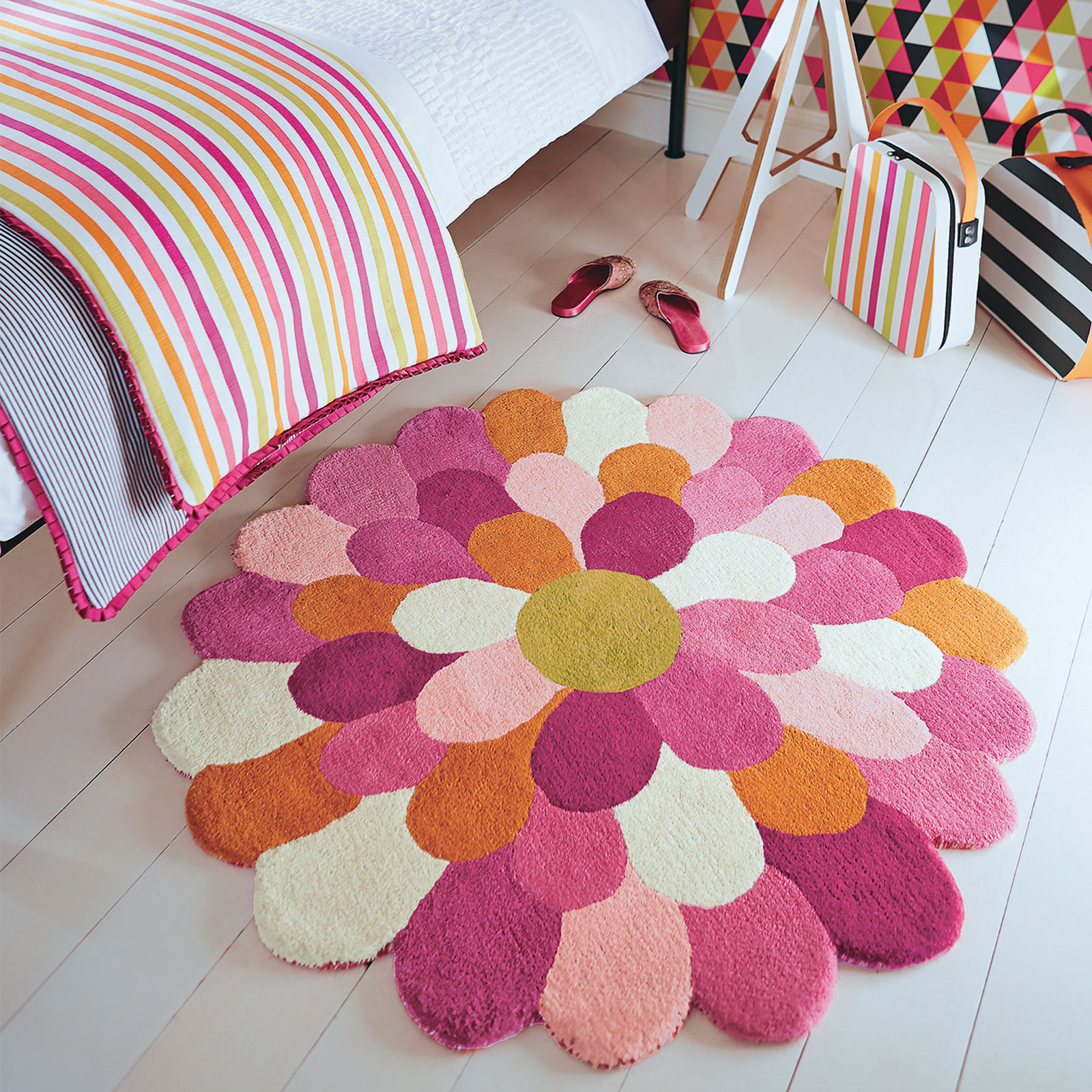 Funky Flower Rugs 42702 by Harlequin Kids
