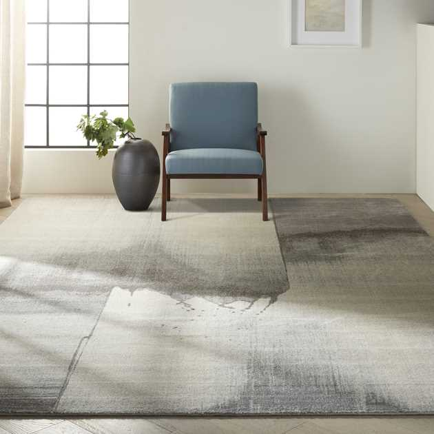 Gradient Rugs GDT05 in Silica by Calvin Klein