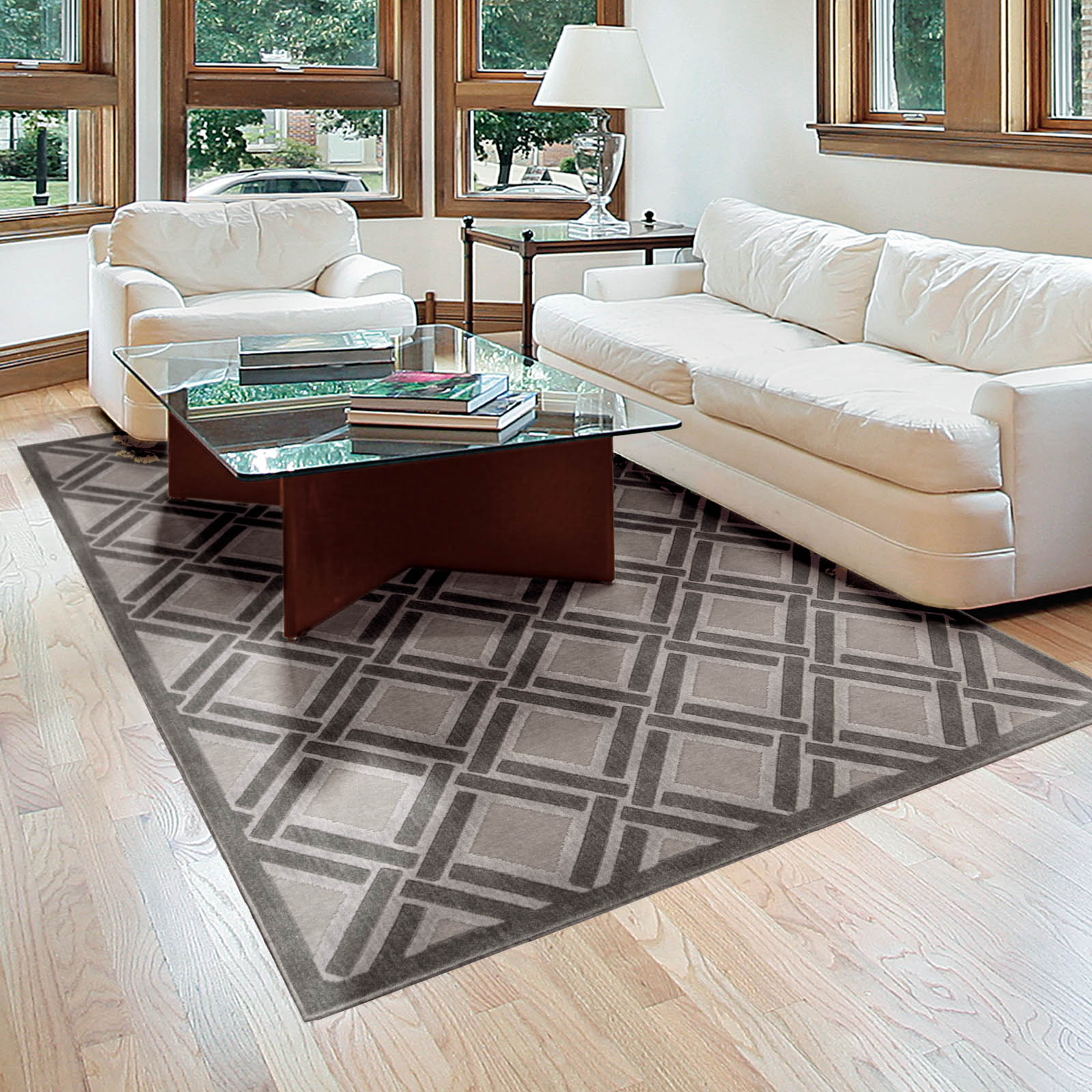 Graphic Illusions Rugs GIL21 Grey by Nourison