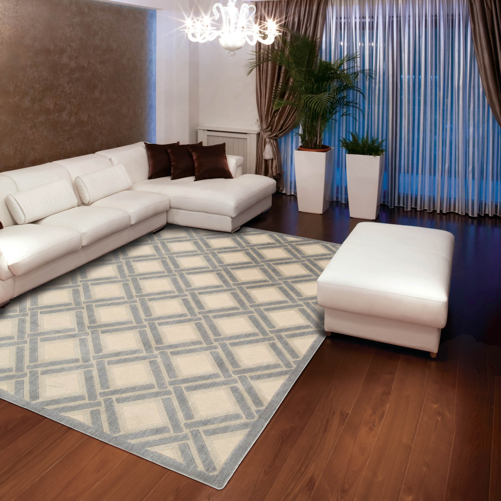 Graphic Illusions Rugs GIL21 Ivory by Nourison