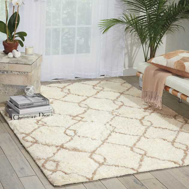 Nourison Galway Rugs GLW02 in Ivory and Tan