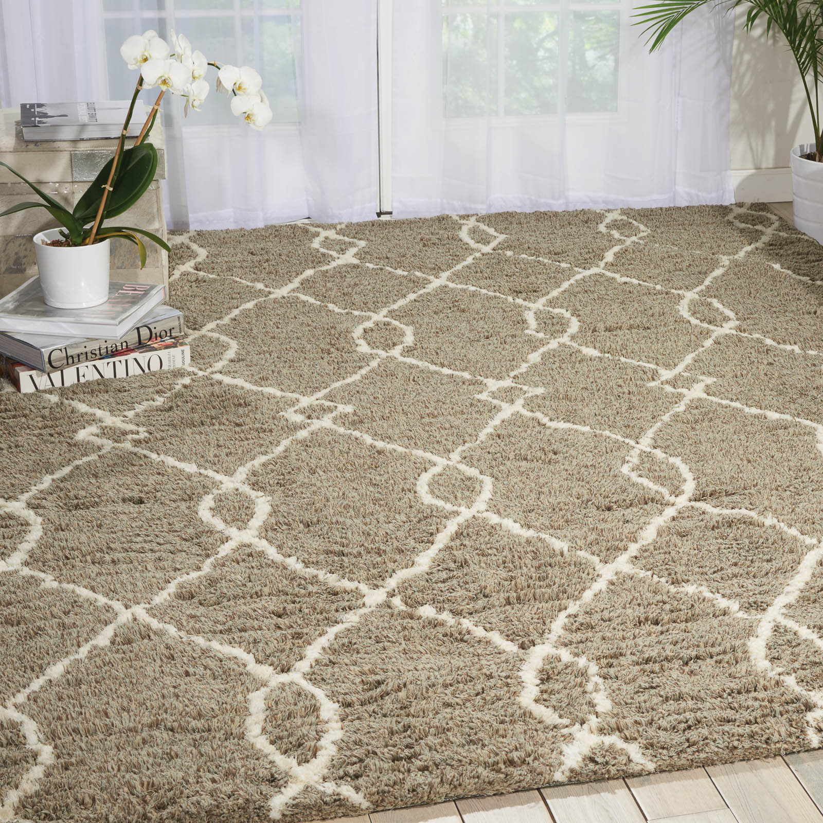 Nourison Galway Rugs GLW02 in Mocha and Ivory