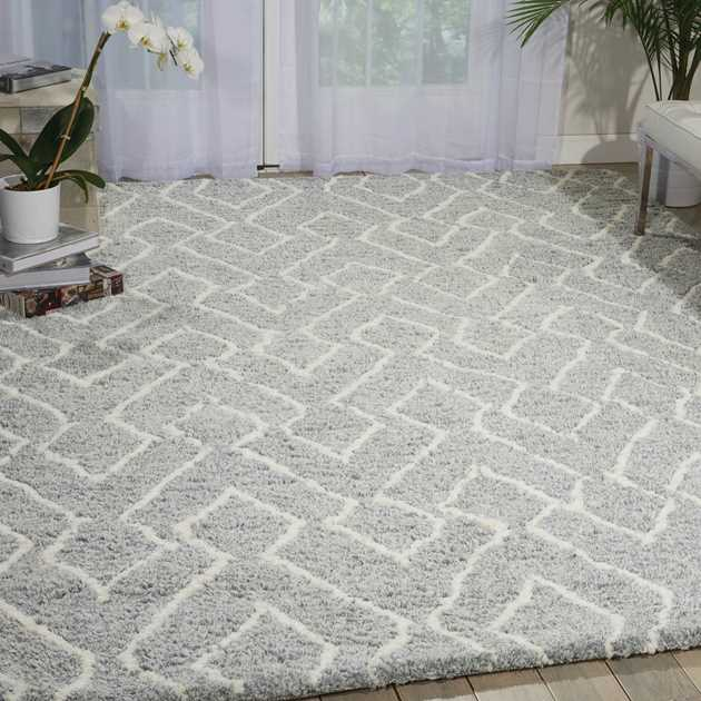 Nourison Galway Rugs GLW03 in Slate and Ivory