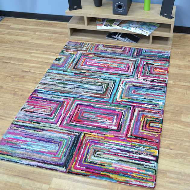 Cotton Chindi Galaxy Multicoloured Rugs 01