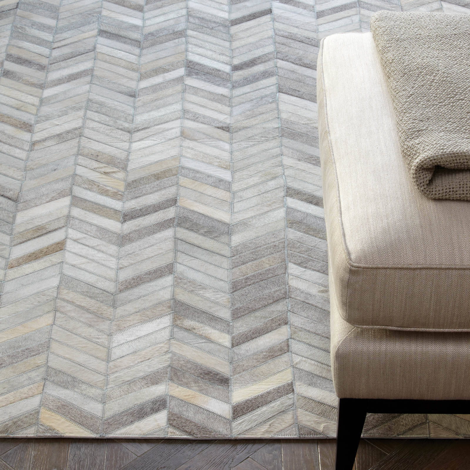 Gaucho Chevron Rugs in Natural