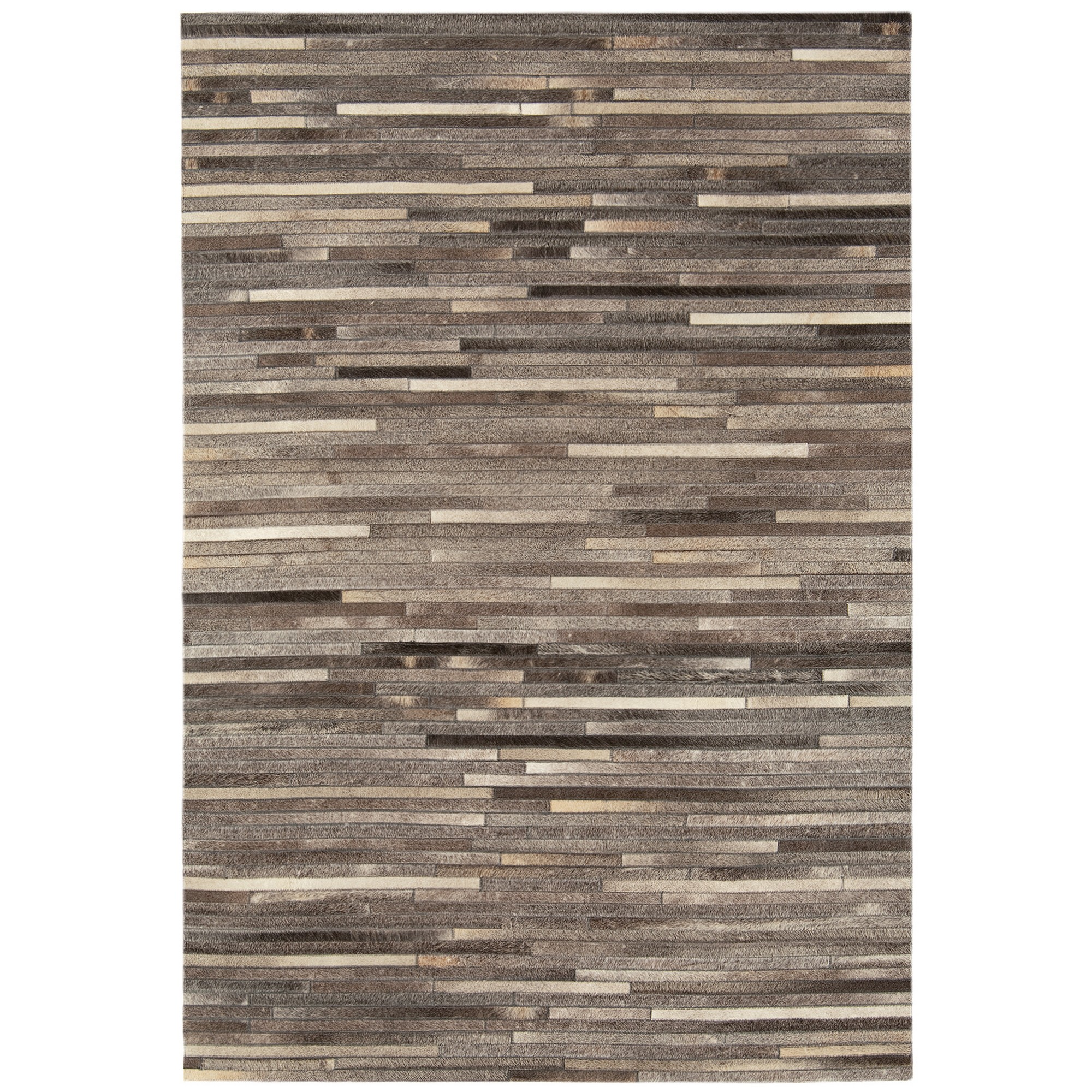 Gaucho Stripe Rugs in Dark Grey