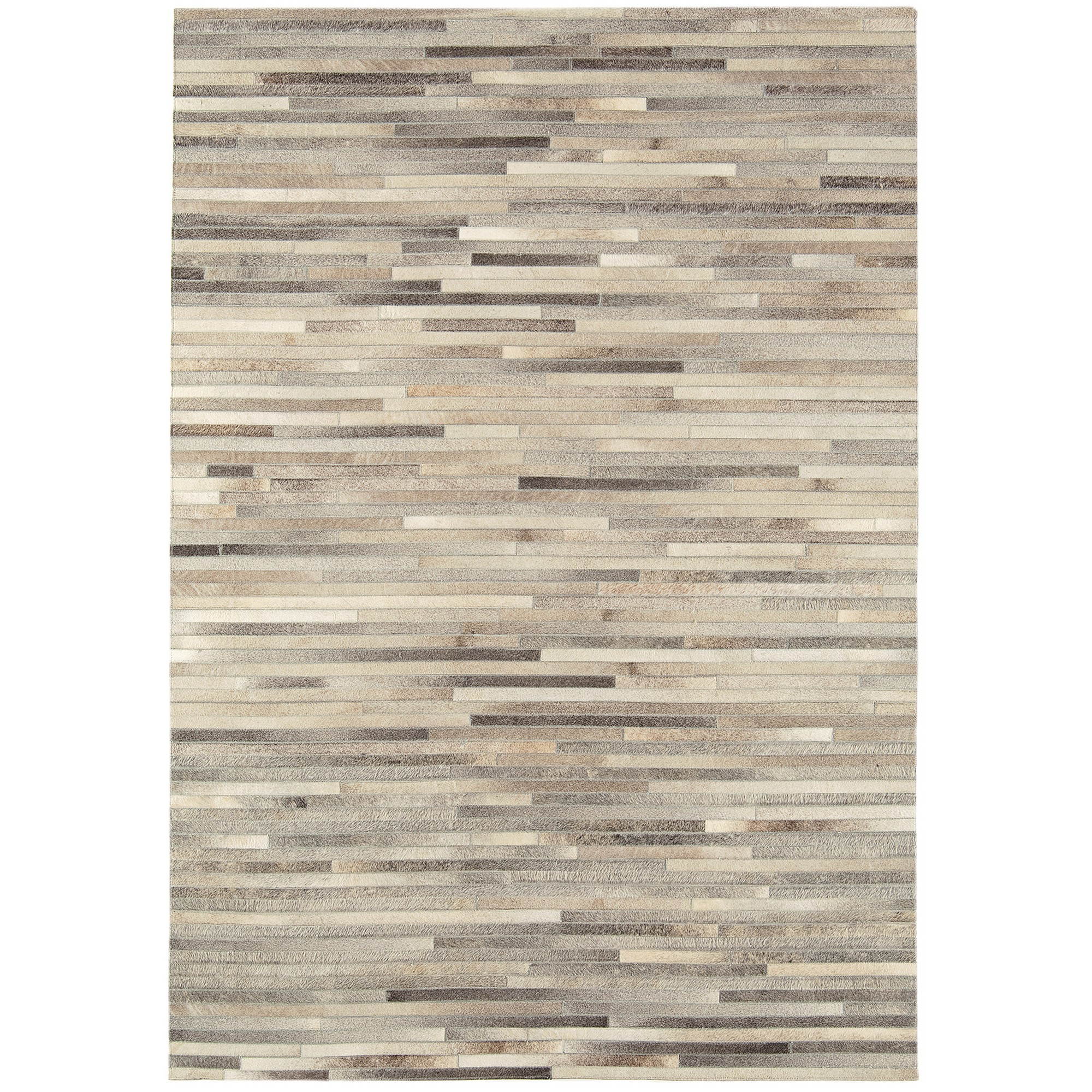 Gaucho Stripe Rugs in Light Grey