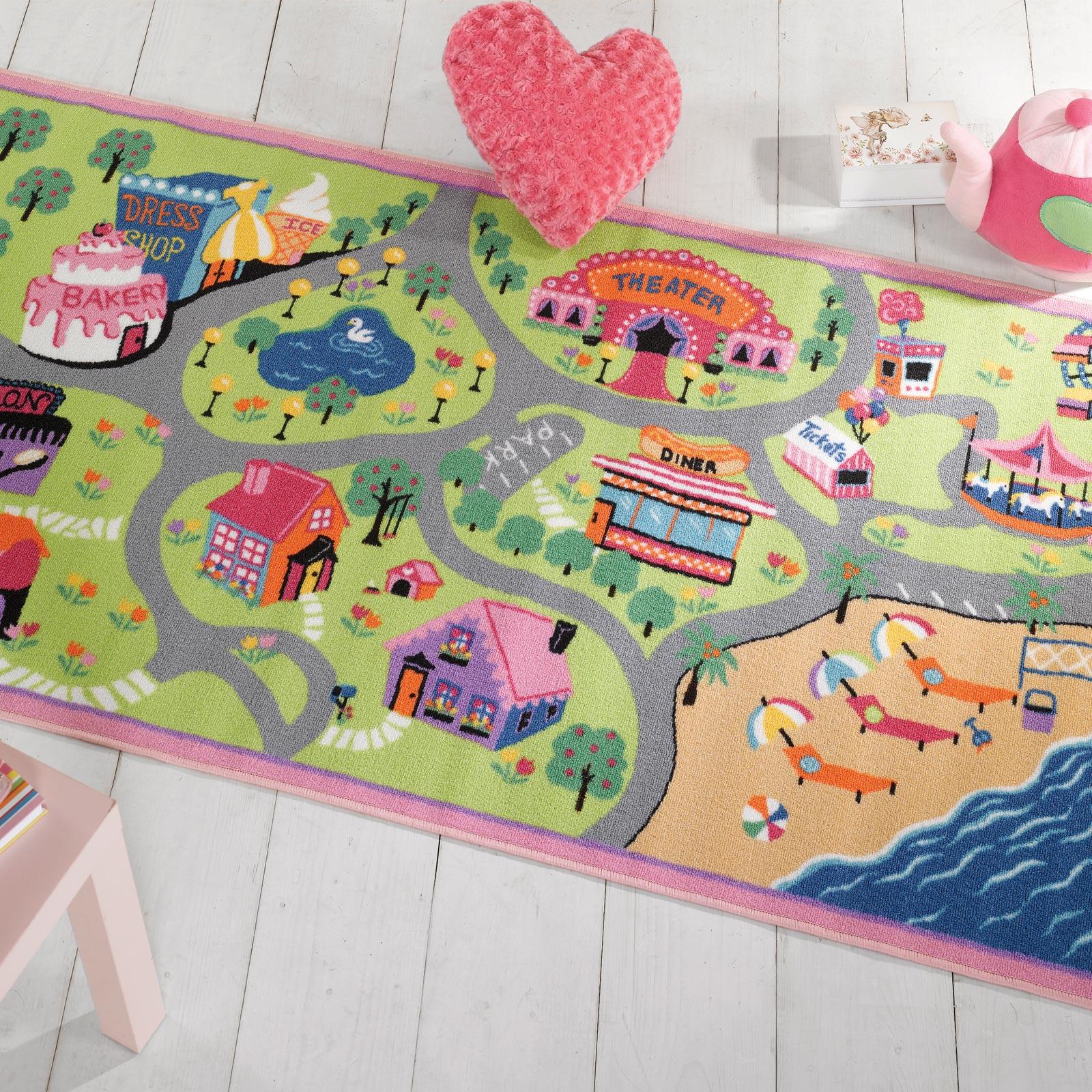 Kids Bedroom Rugs Uk matrix girls world washable play rug - free uk delivery - the rug