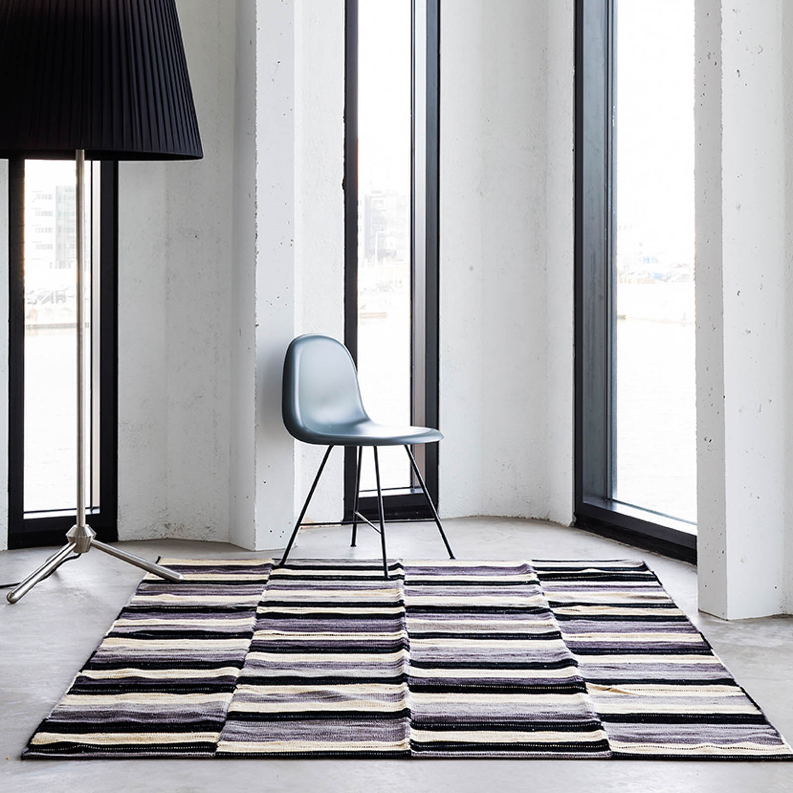Global Gypsy Rugs in Grey and Black by Massimo