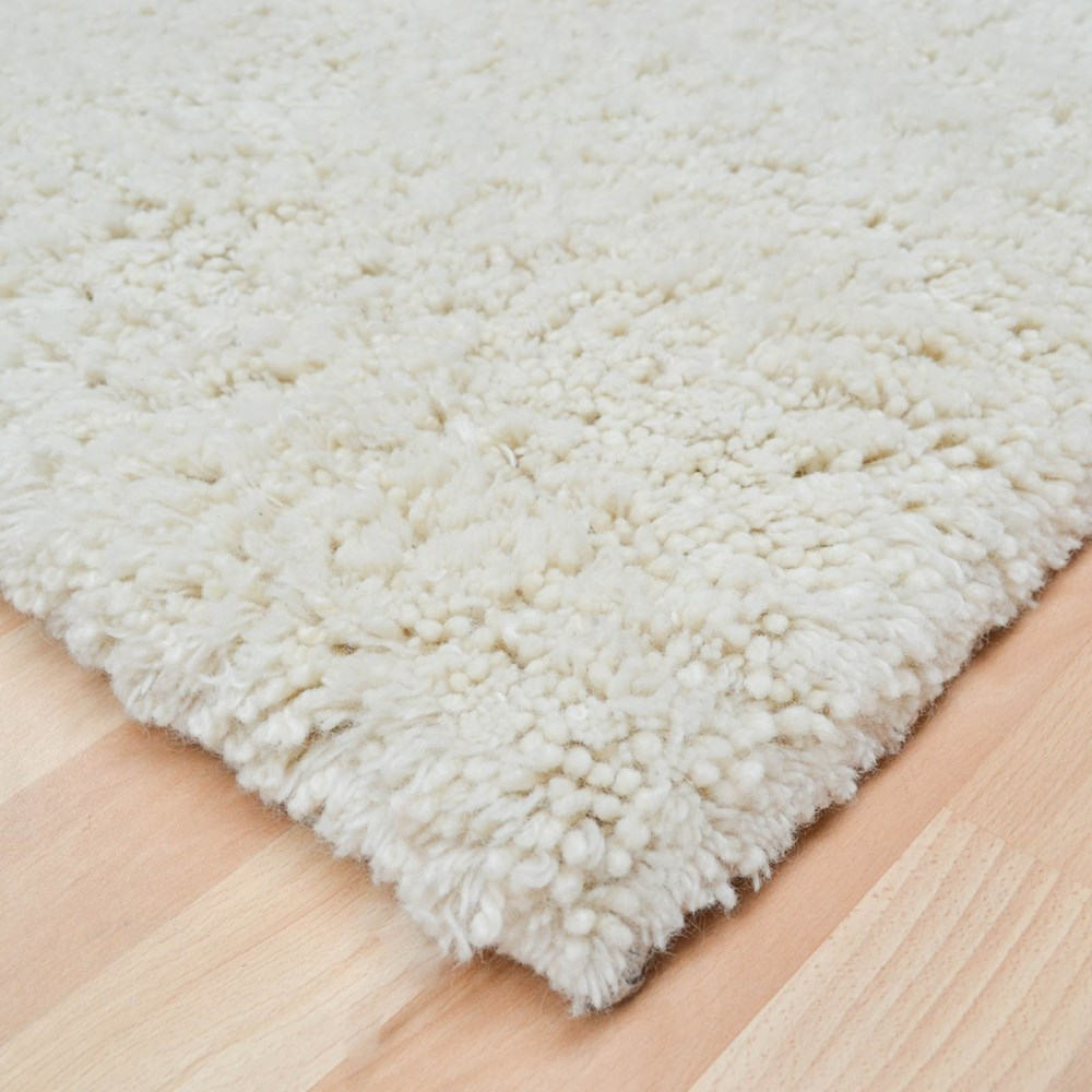 Goochy Cream Shaggy Wool Rugs Free Uk Delivery The Rug