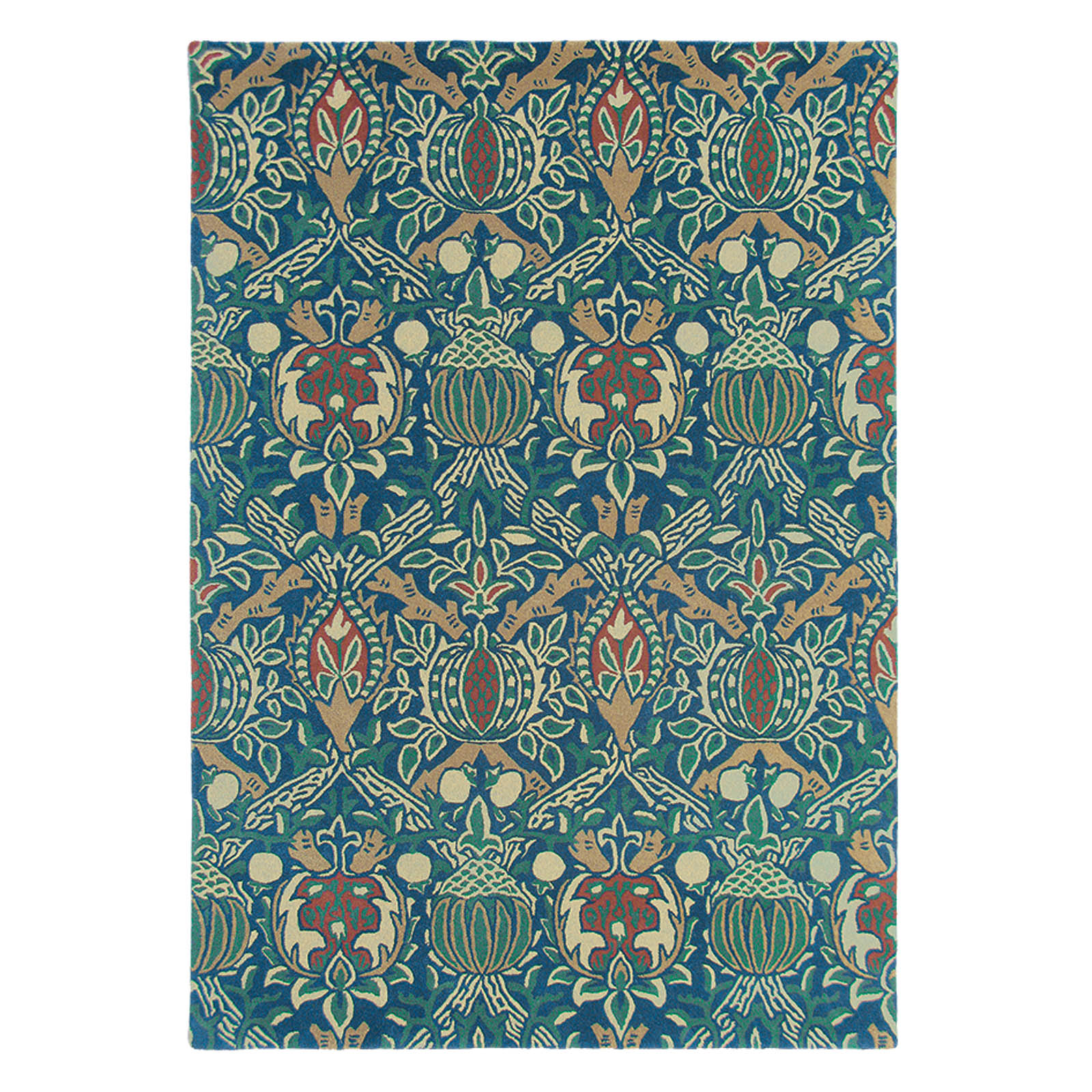 Granada Rugs 27608 in Indigo and Red by William Morris