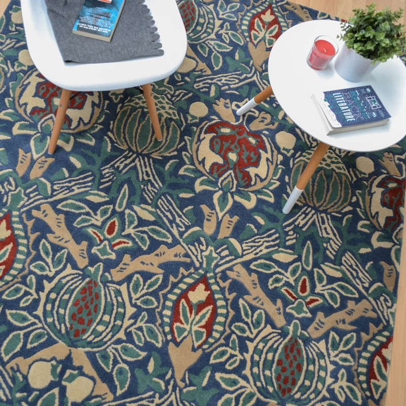 Granada Rugs 27608 In Indigo And Red By William Morris Buy