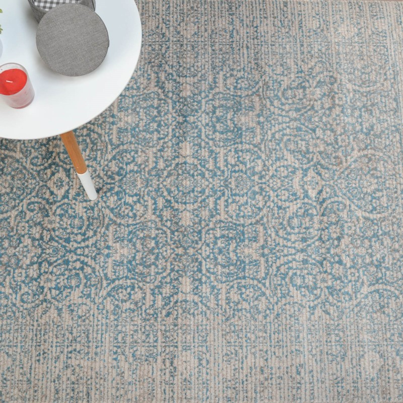 Grandeur Teal Damask Rugs Buy Online From The Rug Seller Uk