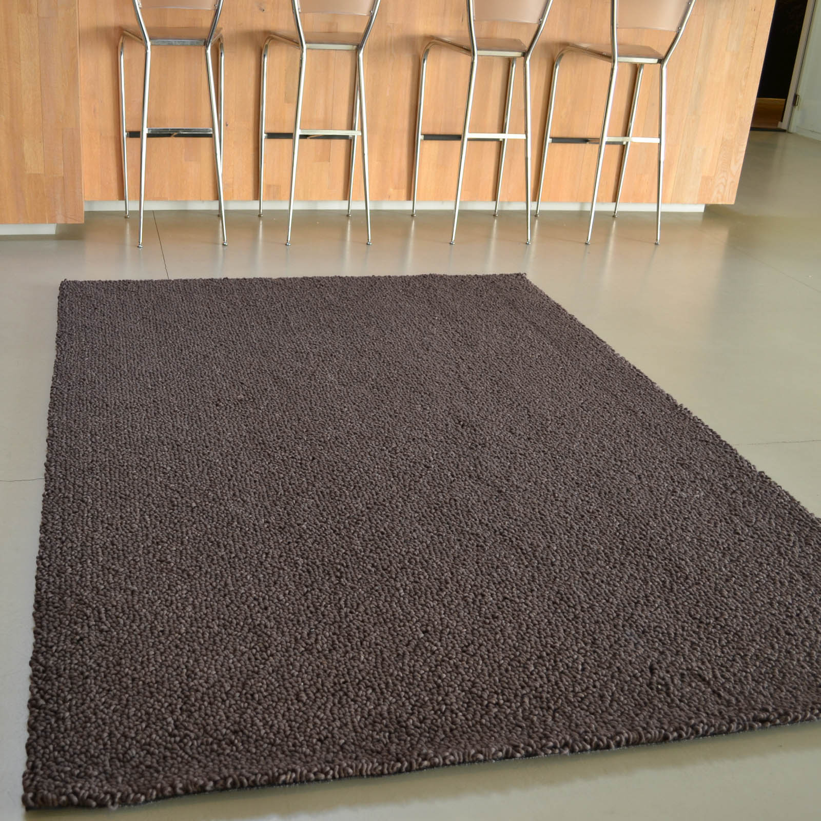 Gravel Boucle Rugs 68105 in Brown by Brink and Campman