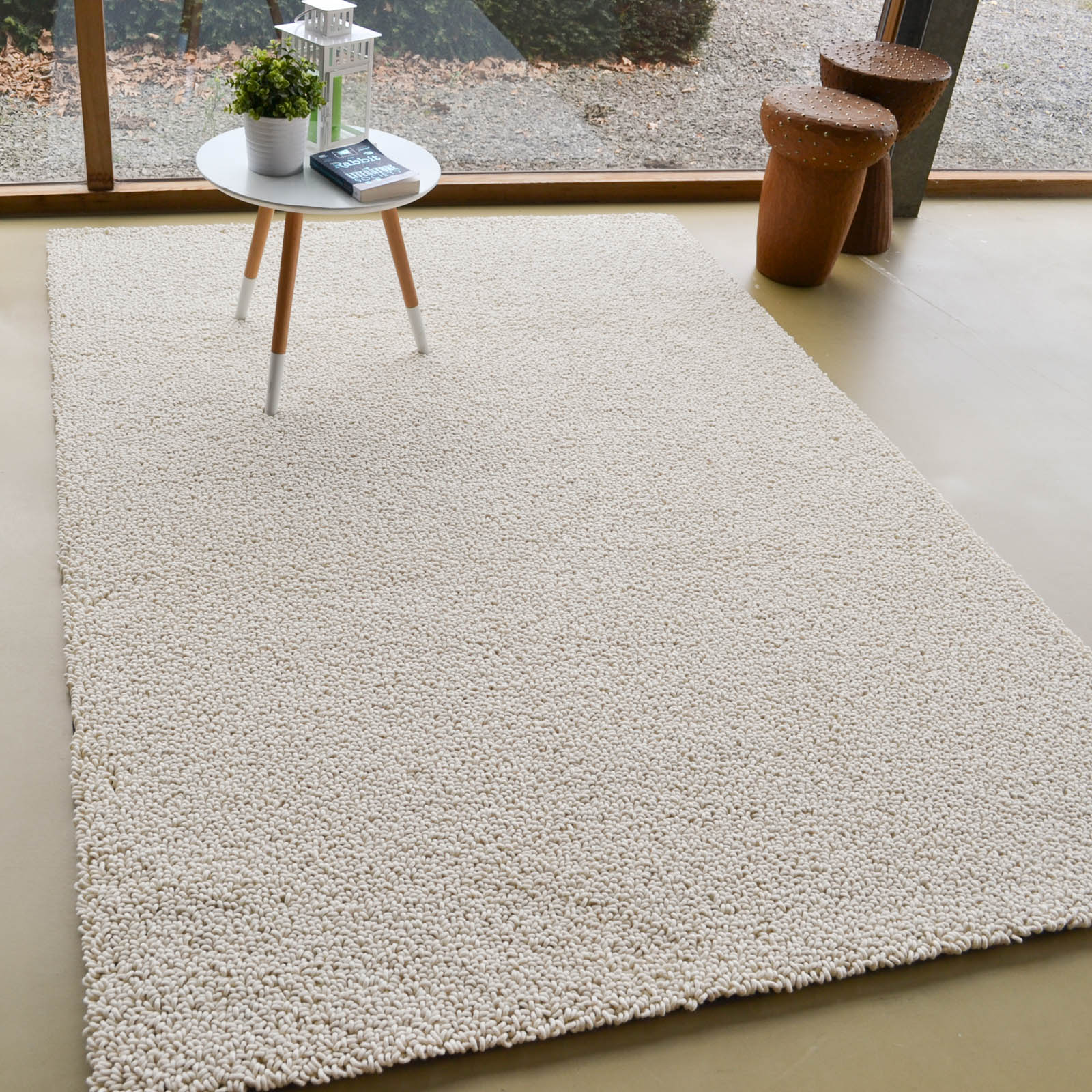 Gravel Boucle Rugs 68109 in Ivory by Brink and Campman