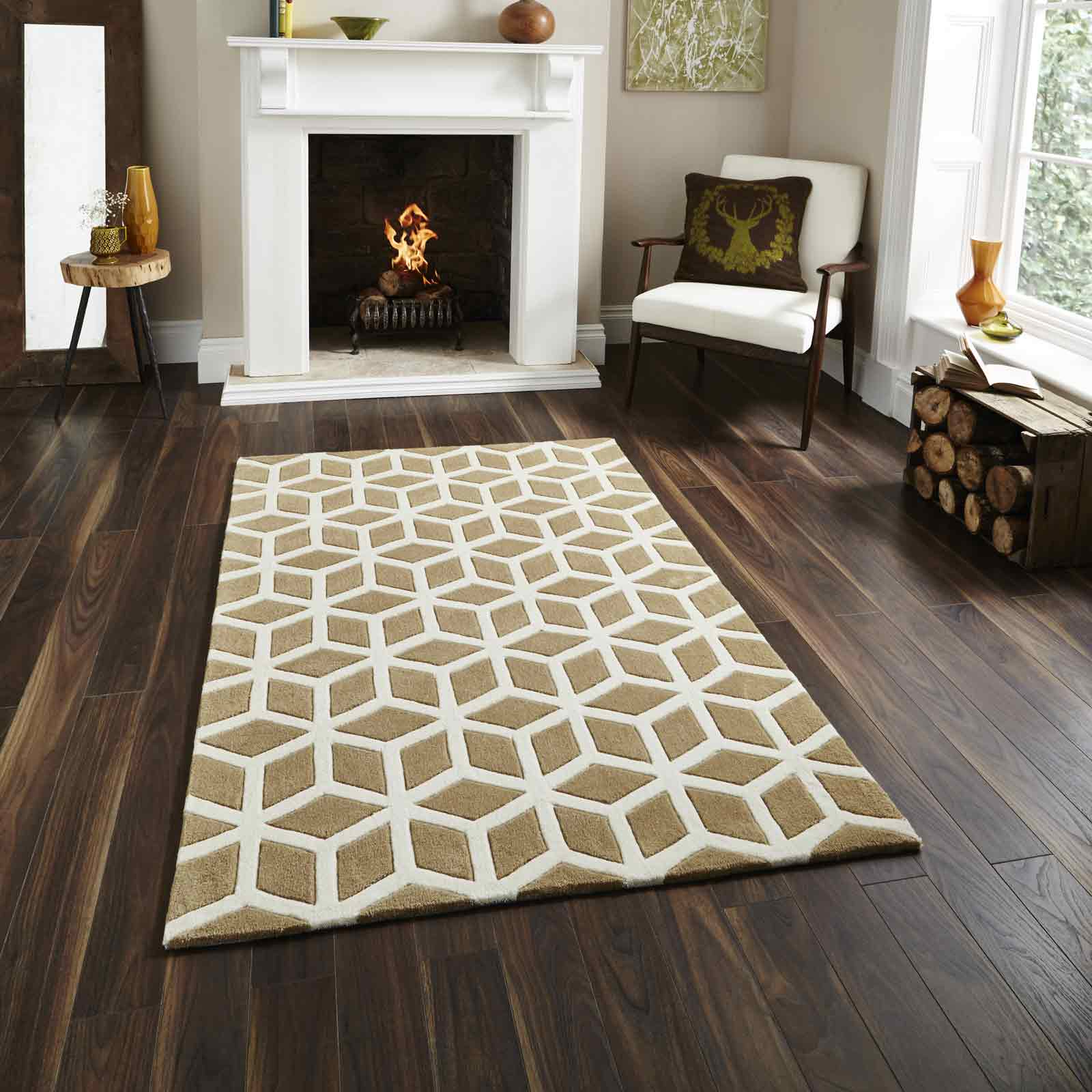 Hong Kong Rugs HK326 in Beige Cream