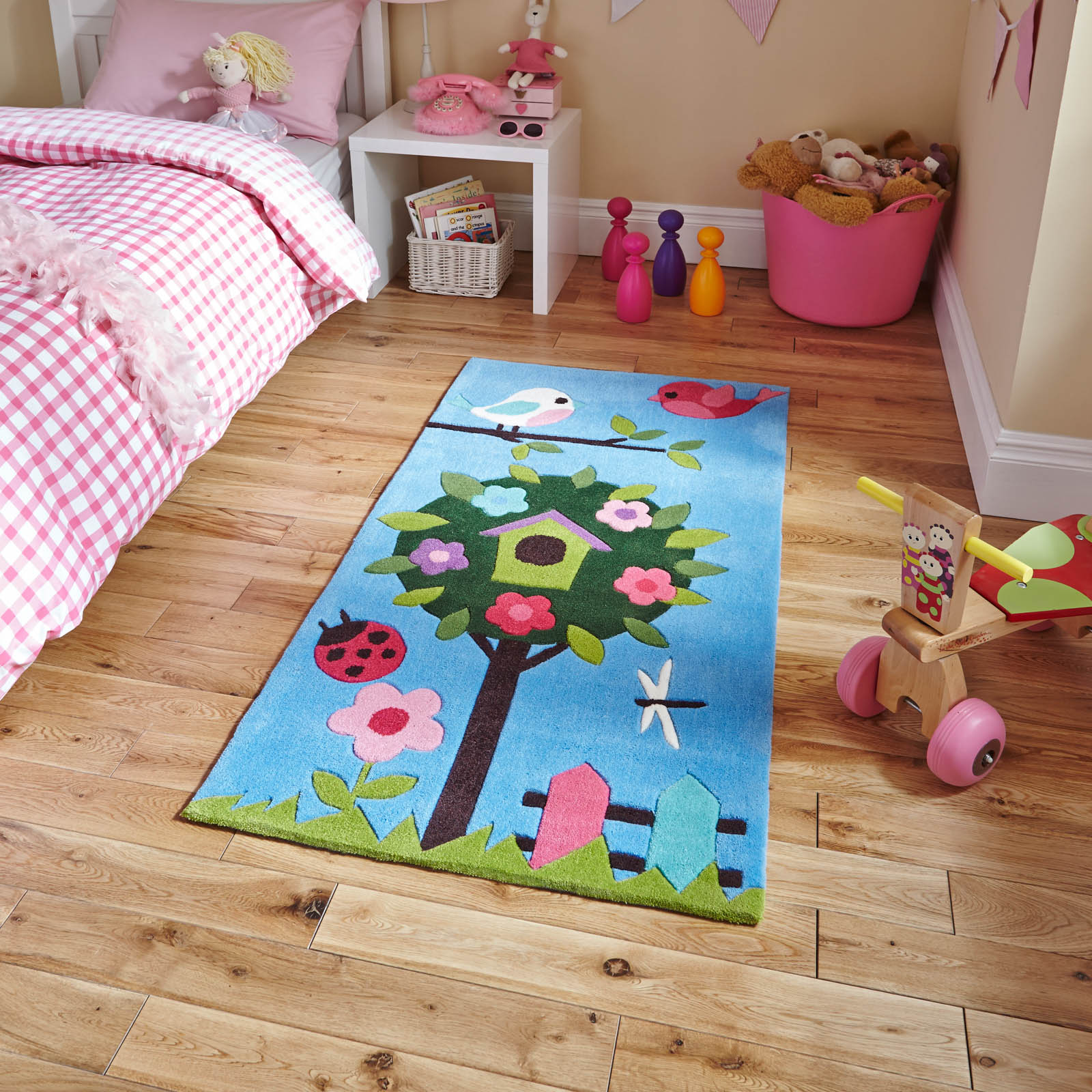 Hong Kong HK4897 Blue Kids Rug