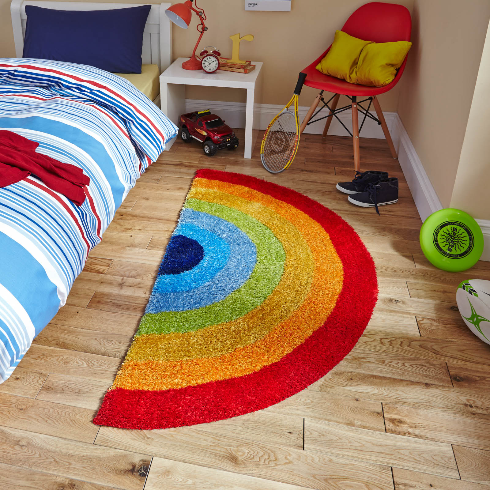 Hong Kong Hk6083 Rainbow Stripe Rug Free Uk Delivery