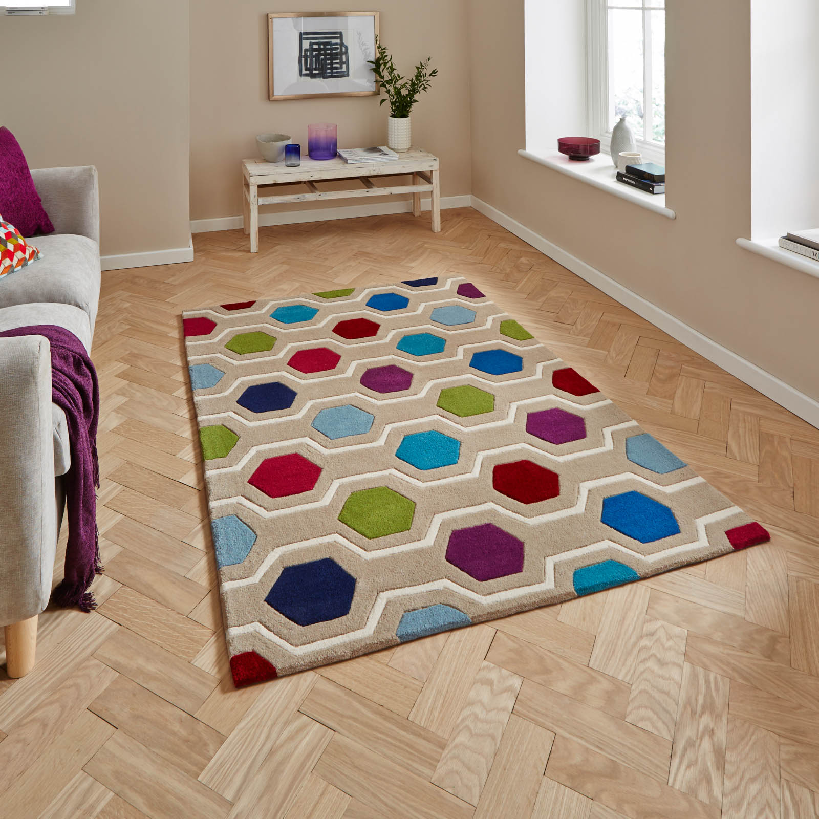 Hong Kong HK6896 Multicoloured Rugs