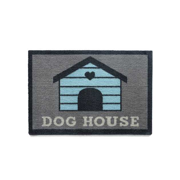 Howler & Scratch Dog House Mats 1 in grey and blue
