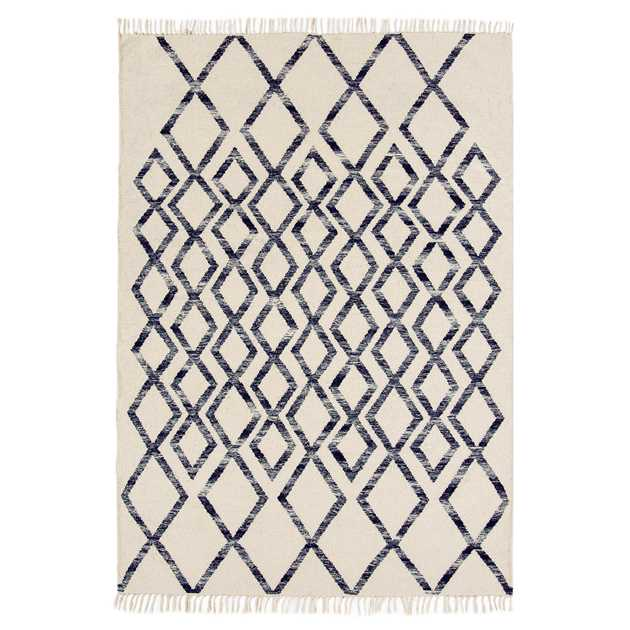 Hackney Diamond Rugs in Blue