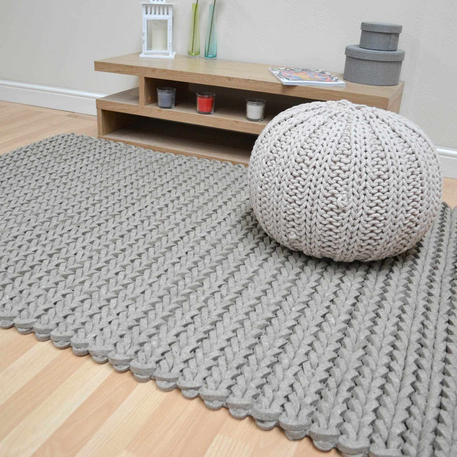 helix felted wool braid rugs in taupe free uk delivery the rug
