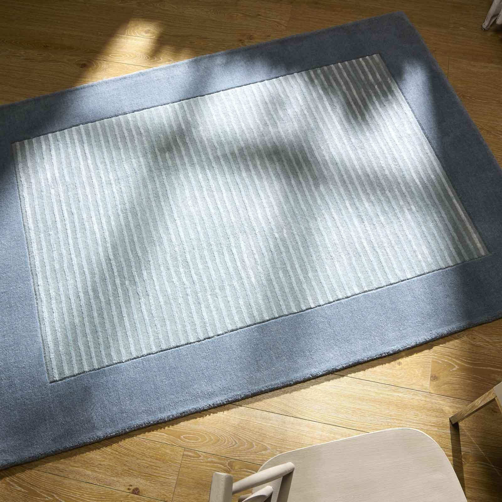 henley rug in duck egg blue free uk delivery the rug. Black Bedroom Furniture Sets. Home Design Ideas