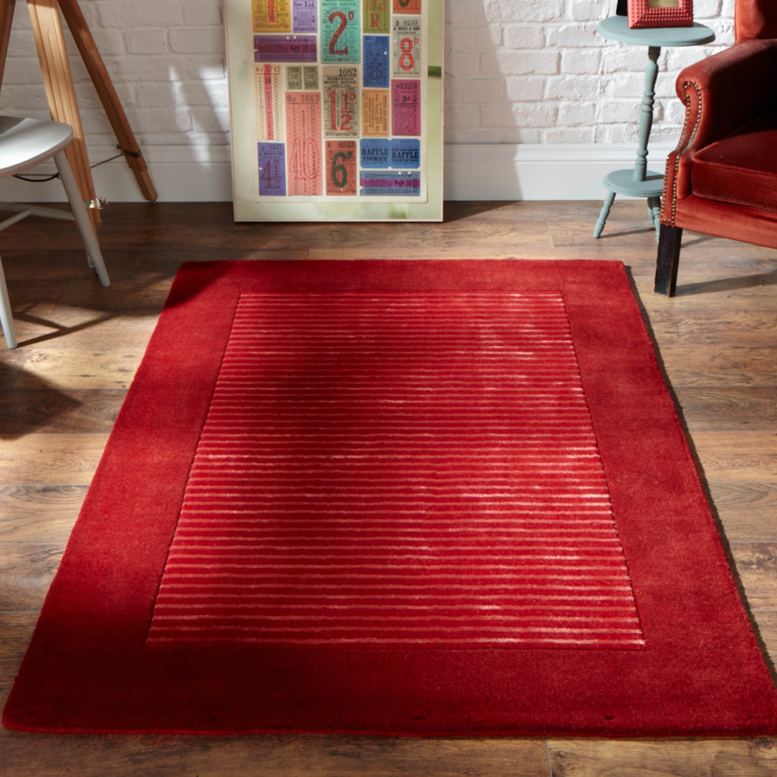 Henley Rug in Red