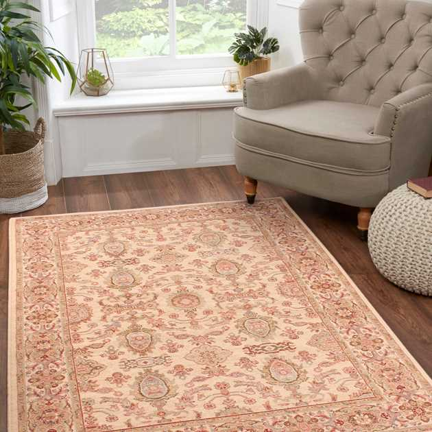 Keshan Supreme Herati Rugs in Cream