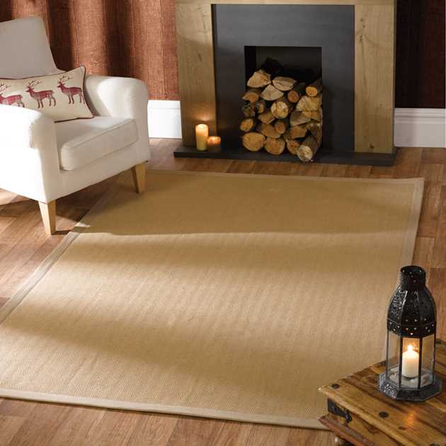Herringbone Jute Rugs in Natural